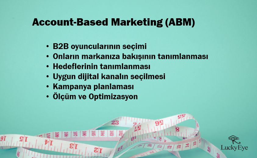 account based marketing adımları