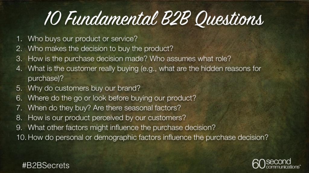 b2b soruları