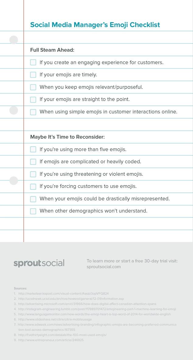 sosyal medya checklist